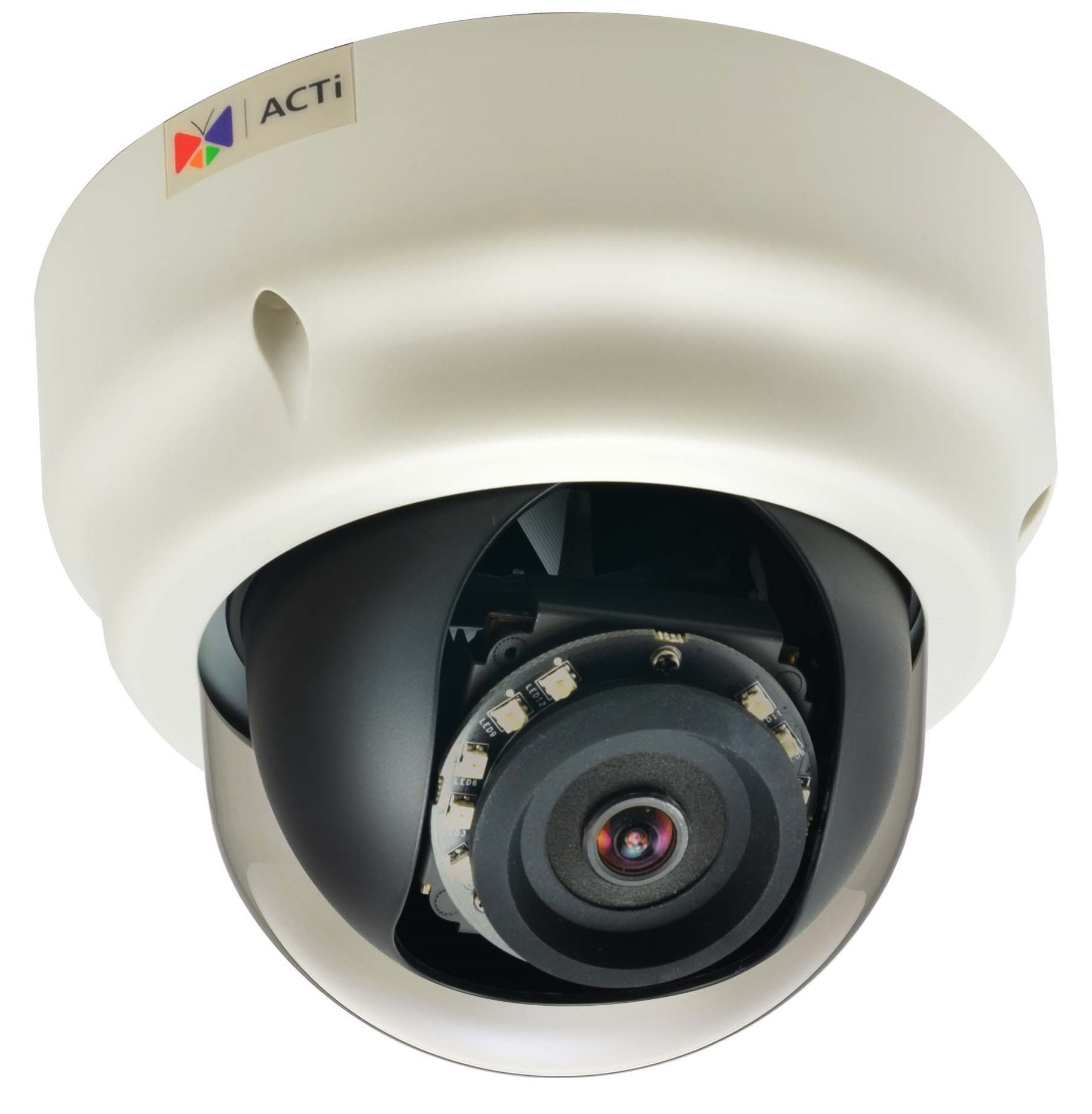 ACTi B53,F.Dome,3M,ID,f1.9mm,PoE/DC,WDR,IR