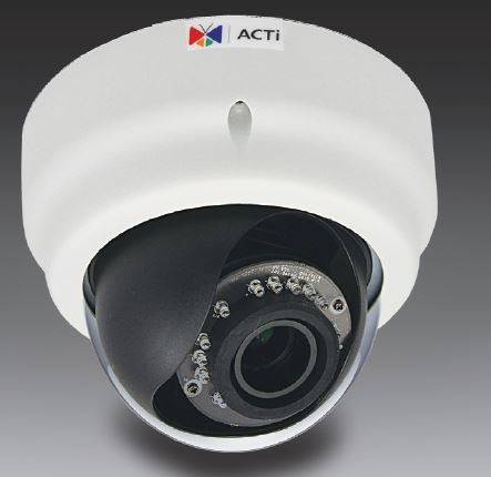 ACTi E61A,VF.Dome,1M,ID,f2.8-12mm,PoE,WDR,IR