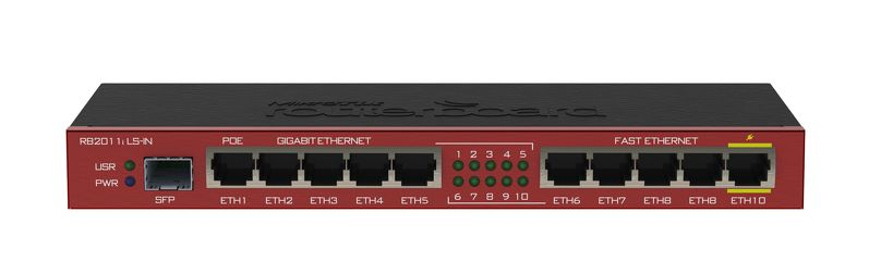 Mikrotik RB2011iLS-IN,64MB RAM,1xSFP,5xLAN,5xGbit