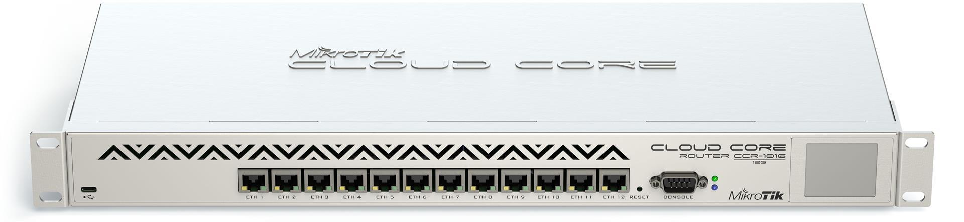 MikroTik CCR1016-12G 2GB RAM, 1200MHz, RouterOS L6