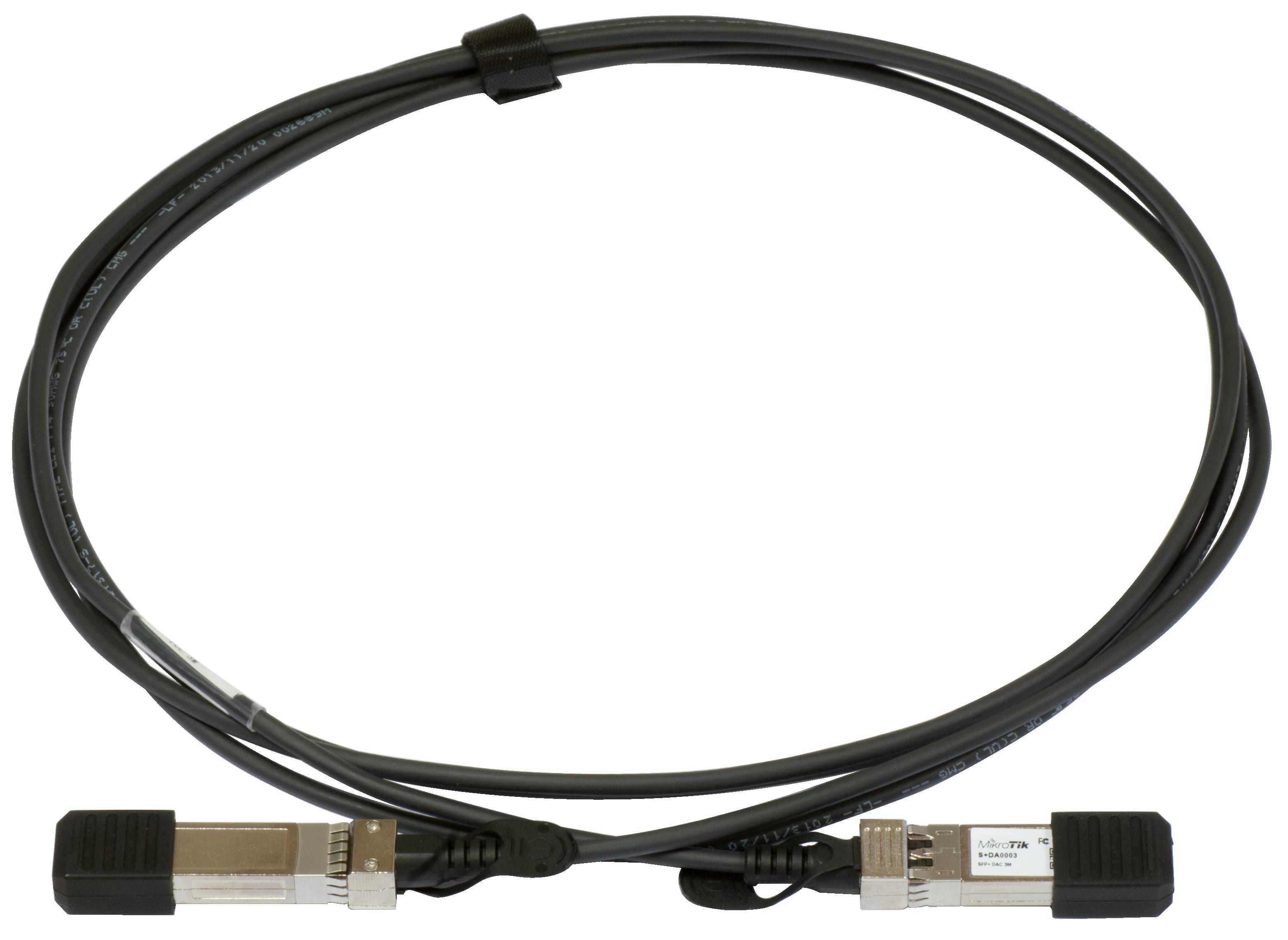 MikroTik S+DA0001 SFP+ 1m stohovací kabel