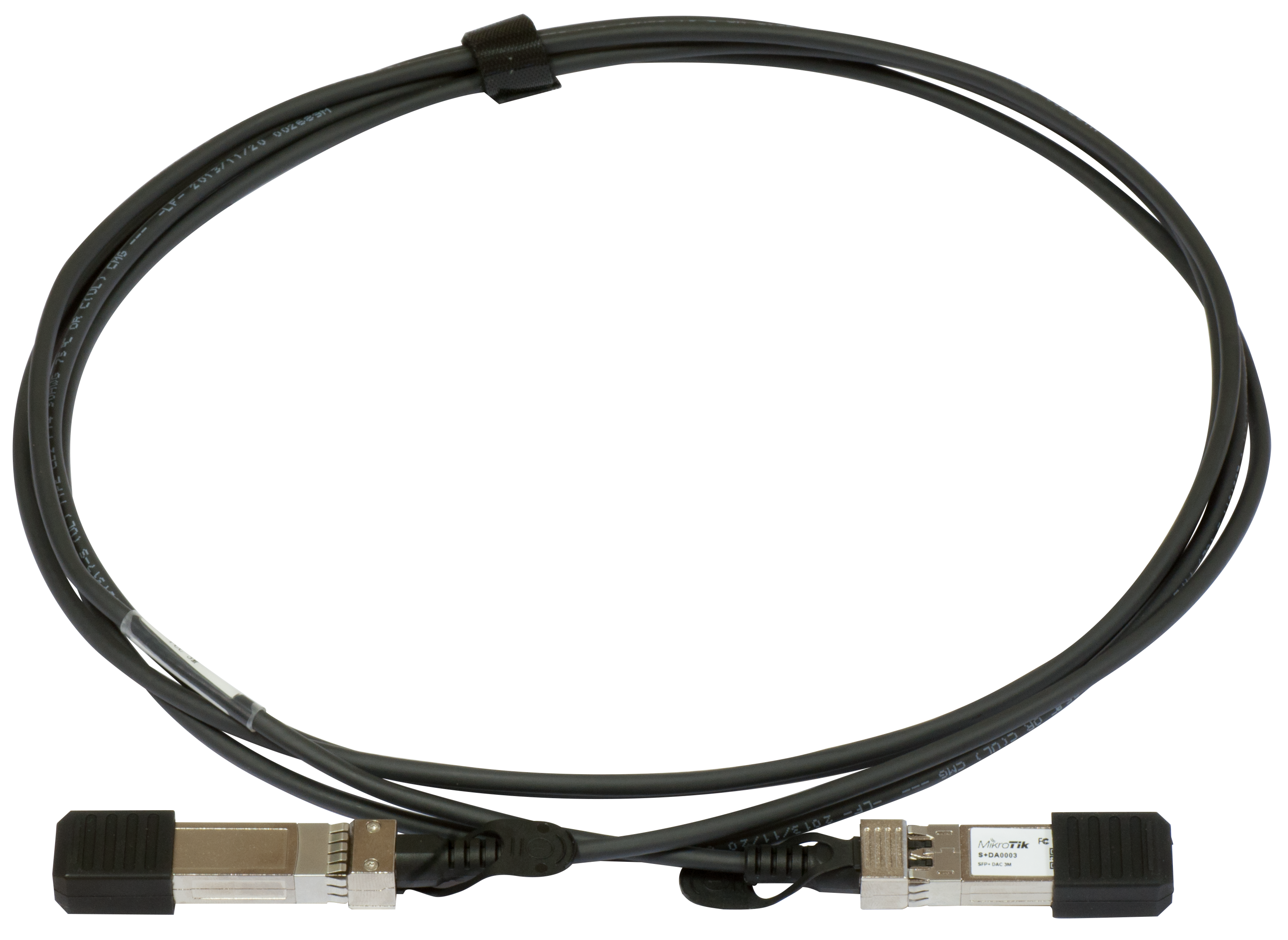 MikroTik S+DA0003 SFP+ 3m stohovací kabel