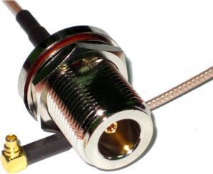 Pigtail N/F-MMCX/M, cca 22 cm