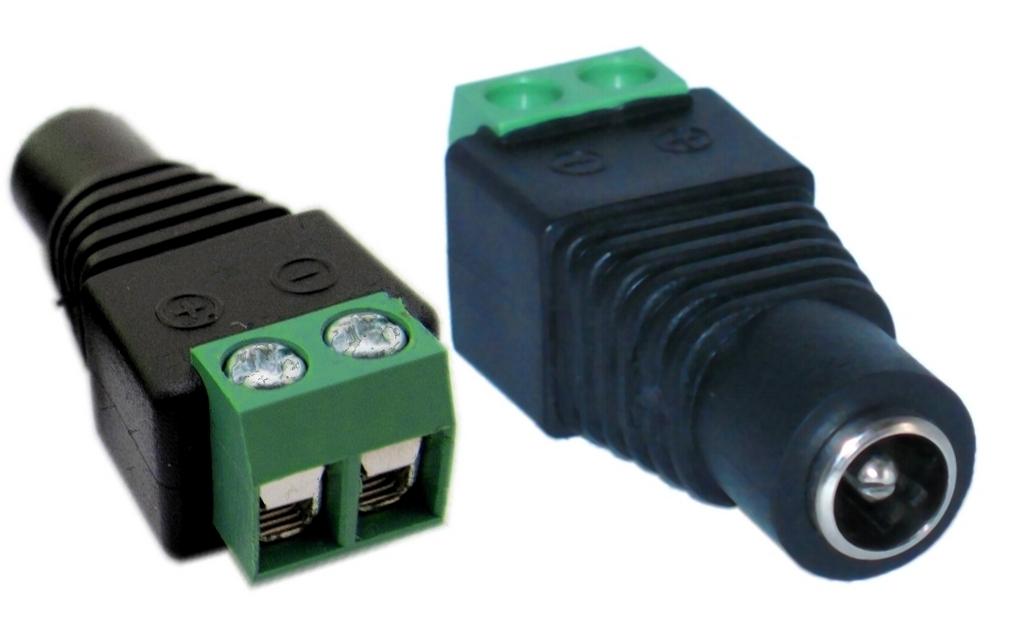 Napájecí redukce 5,5x2,1mm samice na dva dráty, balun - 8594164994739