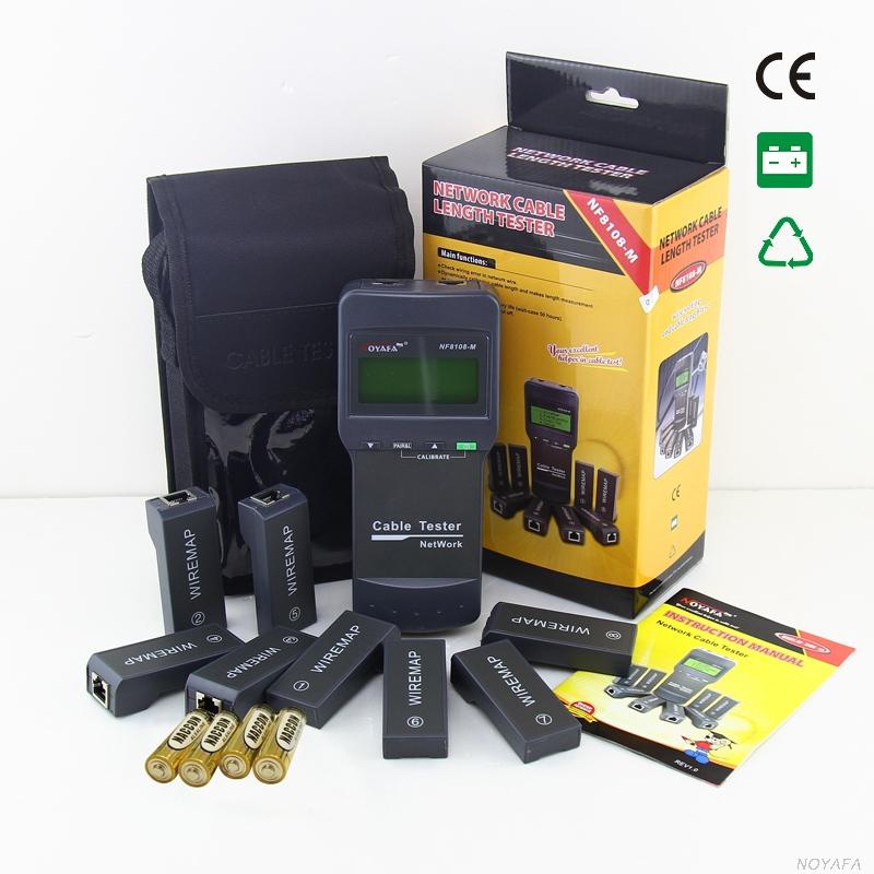 Tester kabelů typ 8108 multi, testuje délku kabelů, chyby na vedení, až 8 přijímačů - WS-NF8108-M