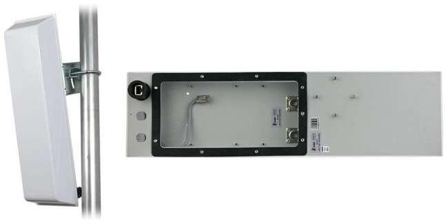 GigaSektor anténa BOX 15dBi/120°, 5GHz, N/F horiz.
