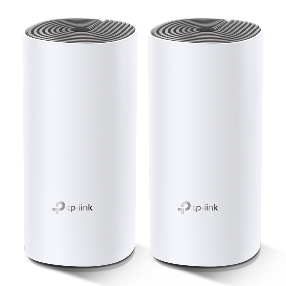 TP-Link AC1200 Whole-home Mesh WiFi System Deco E4(2-pack), 2x10/100 RJ45