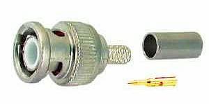 BNC konektor na koaxiální kabel 100ks
