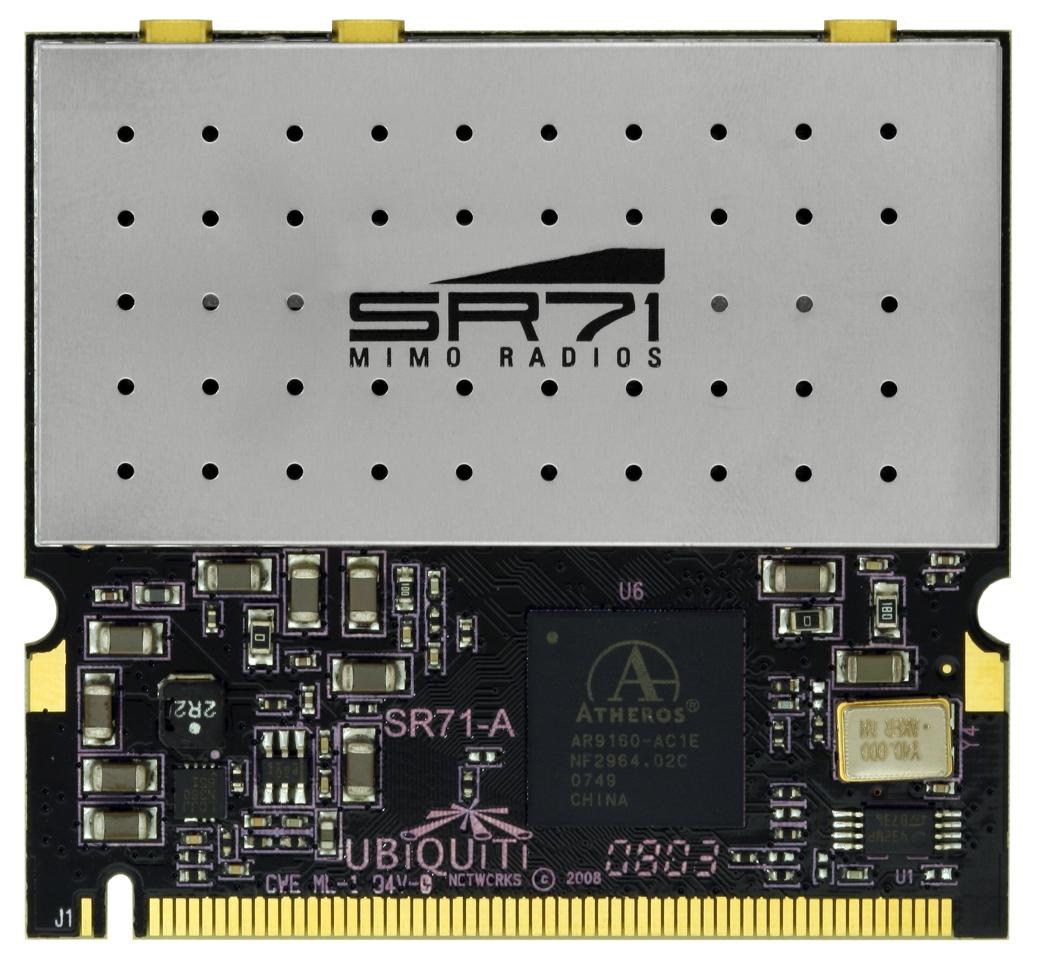 UBNT SR71-A miniPCI,250mW,802.11a/b/g/n, 2,4+5GHz