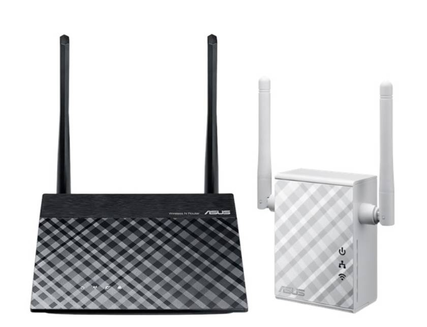 AKCE ASUS N300 router + repeater starter kit (složeno z RT-N12PLUS a RP-N12)