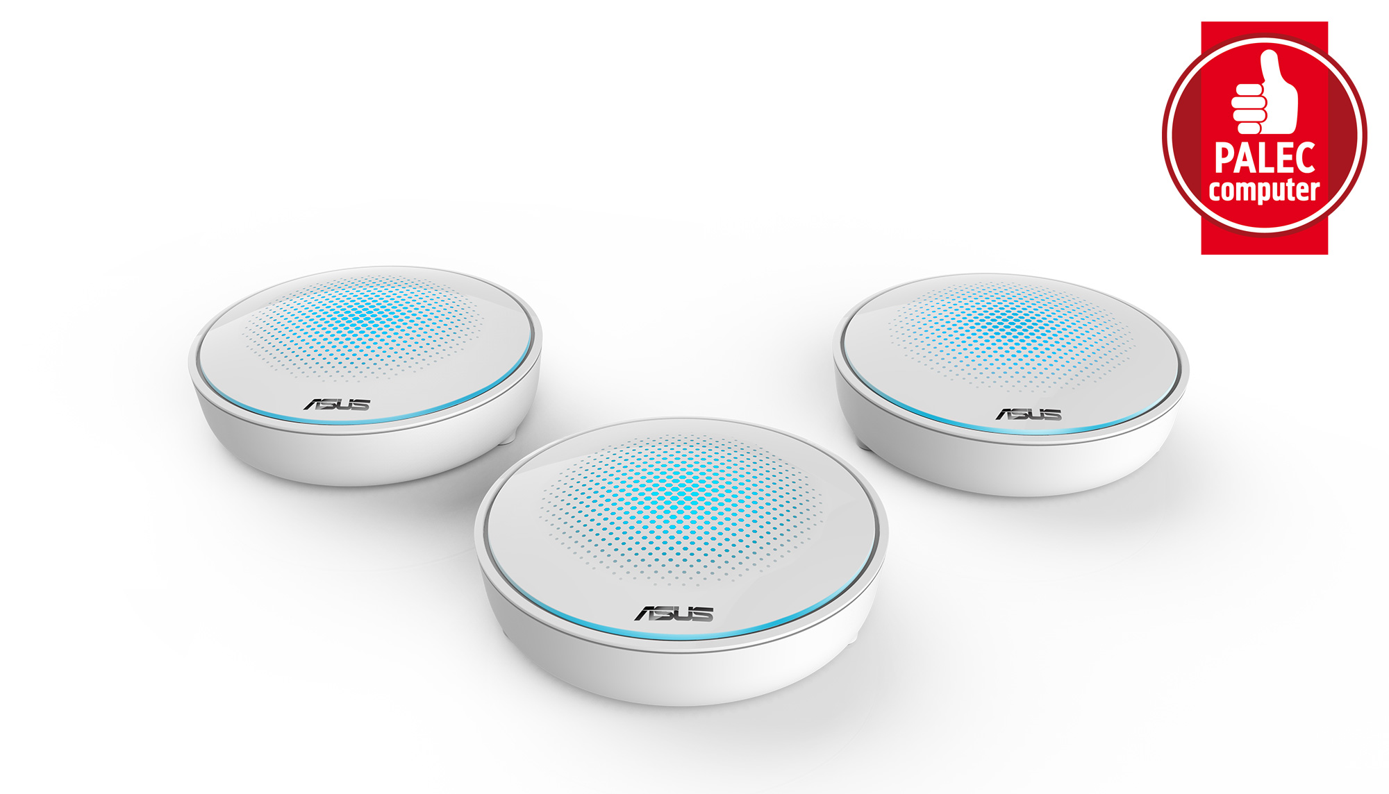 ASUS Lyra MAP-AC2200 Complete Home Wi-Fi Mesh System Wireless-AC2200 Tri-band (MAP-AC2200 - 3 pack)