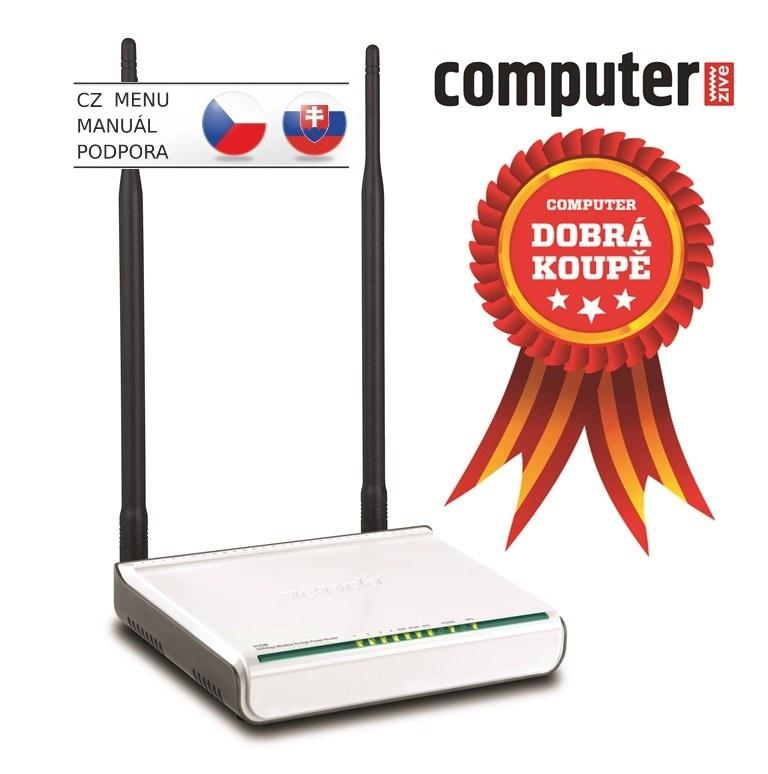 Tenda W309R WiFi-N 300 Router,4xLAN,2xExt.Ant 7dBi