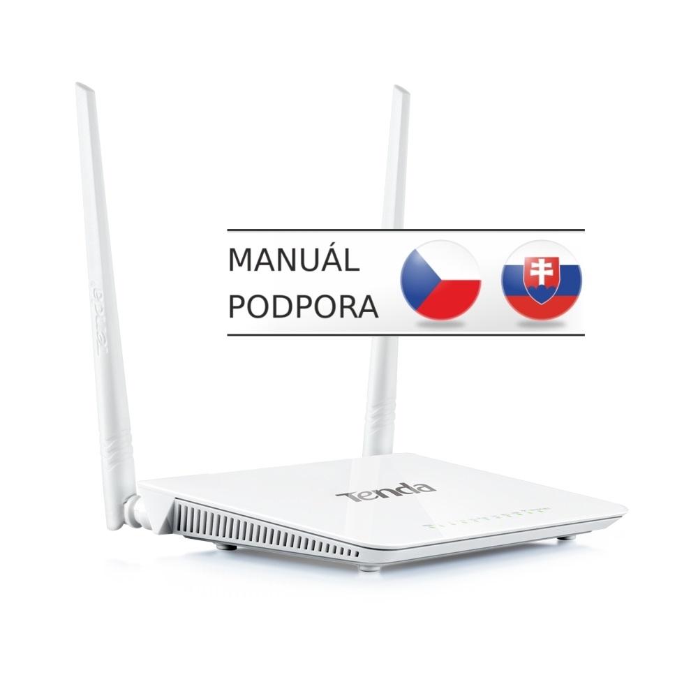 Tenda D301 ADSL2+ WiFi-N 300Mb Router, 4xLAN, USB