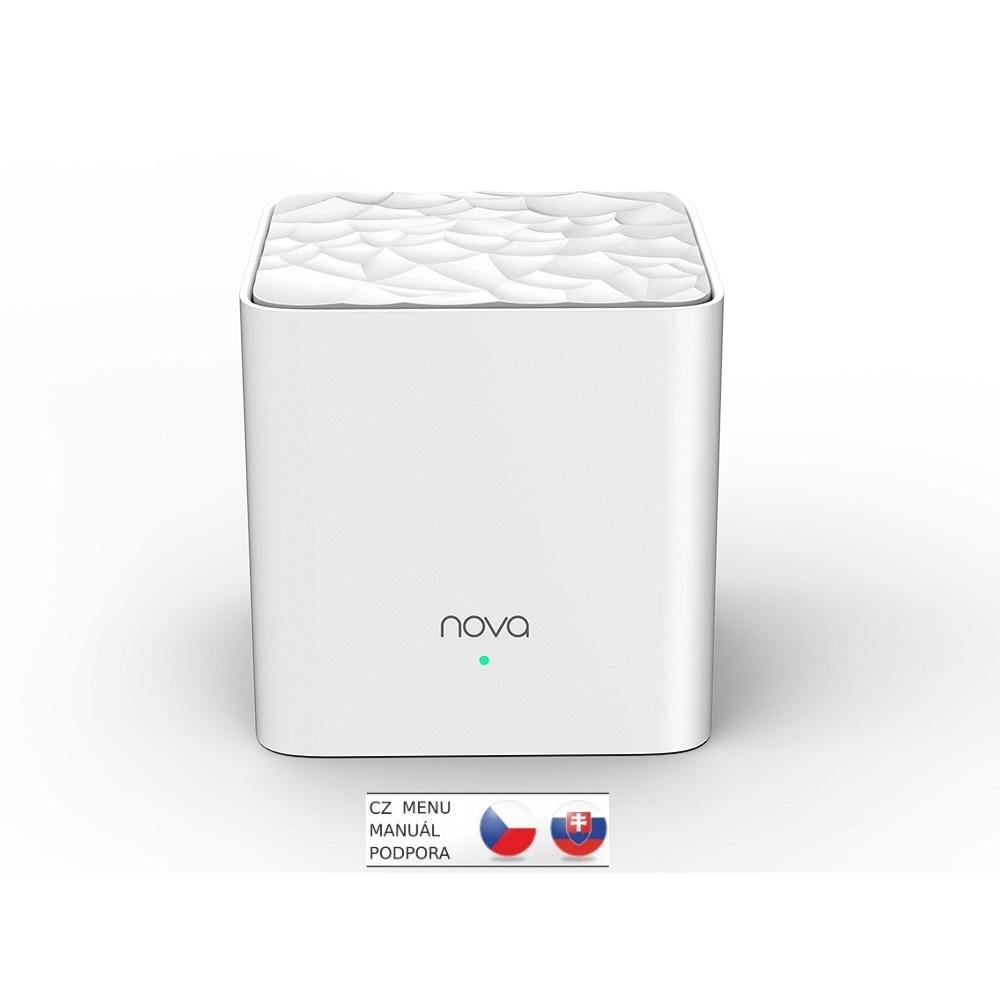 Tenda Nova MW3 (1-pack) Wireless AC1200 Mesh system Dual Band, 2x LAN, MU-MIMO, SMART aplikace - MW3(1-pack)