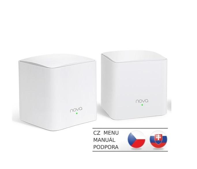 Tenda Nova MW3 (2-pack) WiFi AC1200 Mesh system Dual Band, 2x LAN/WAN, MU-MIMO, SMART aplikace - MW3(2-pack)