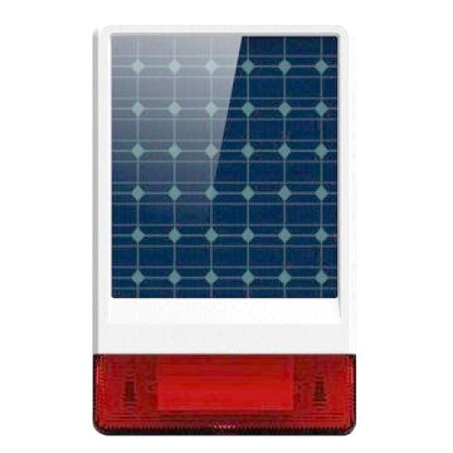 iGET SECURITY P12 - venkovní solární siréna, obsahuje také dobíjecí baterii, pro alarm M3B a M2B - SECURITY P12