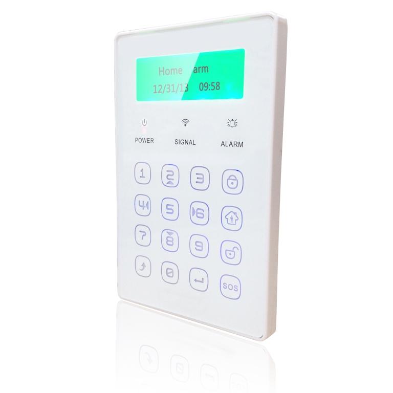 iGET SECURITY P13 - externí bezdrátová klávesnice s LCD displejem pro alarm M3B a M2B - SECURITY P13