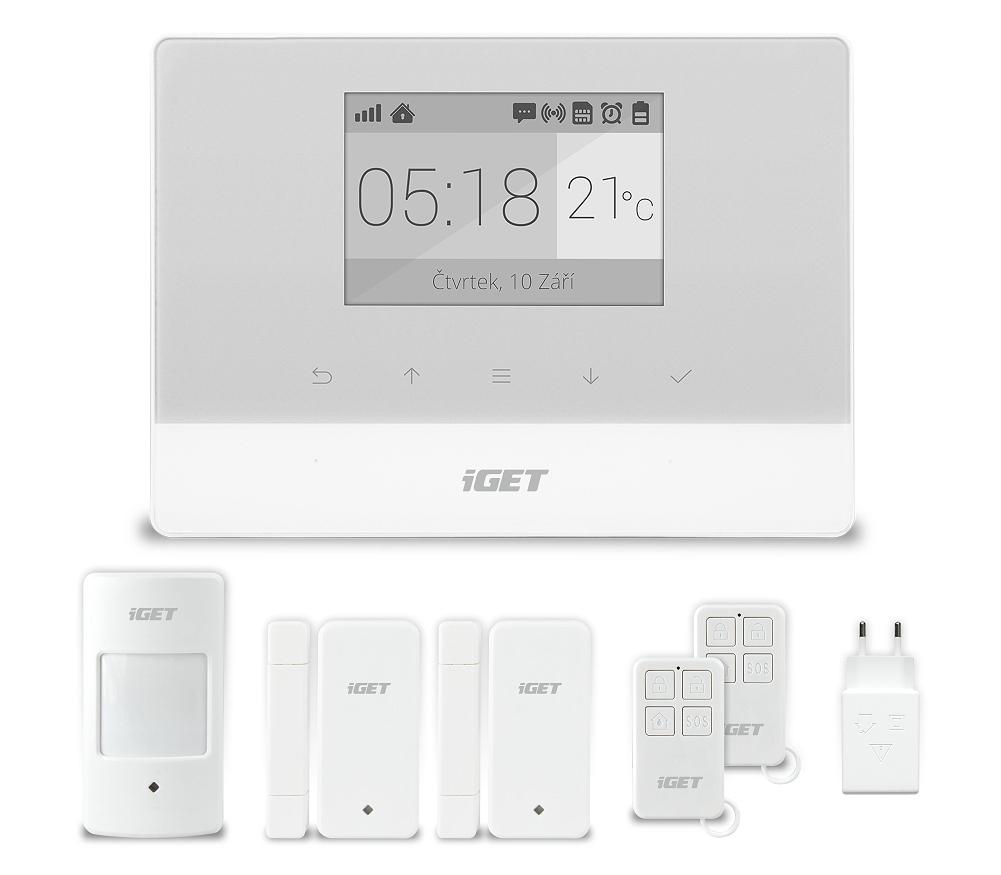 iGET SECURITY M3 - Domovní GSM Alarm, set