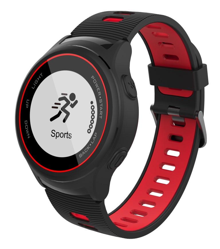 iGET ACTIVE A4 Black - chytré hodinky, IP68, GPS, LCD, BT 4.0, export Strava, LCD, 500mAh,Multisport