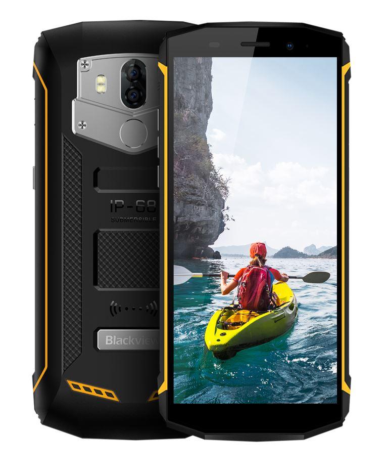 iGET Blackview GBV5800 Yellow odolný telefon, 5,5'' IPS, 2GB+16GB, DualSIM, 4G, IP68, Android 8.1,NFC (CZ Distribuce)