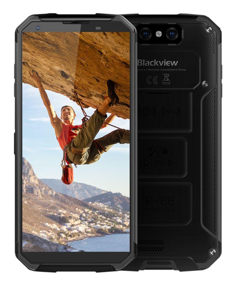 iGET Blackview GBV9500 Black odolný telefon, 5,7'' FHD, 4GB+64GB, DualSIM, 4G, IP69K, Android 8.1,NFC (CZ Distribuce)