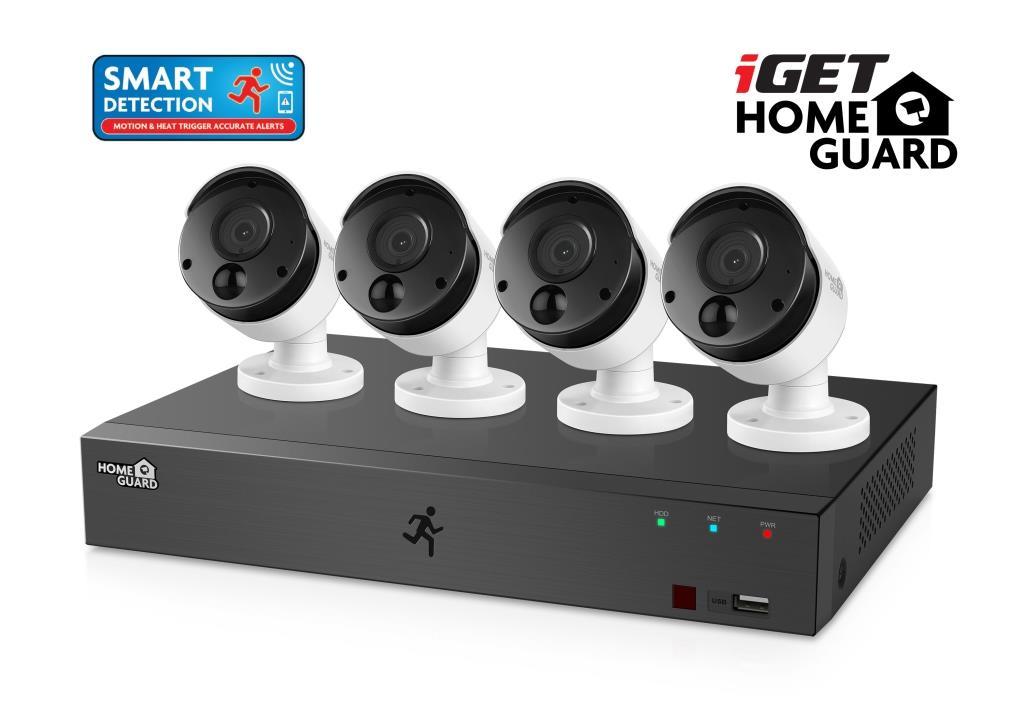 iGET HGDVK84404 - Kamerový FullHD set, SMART detekce,8CH DVR + 4x FHD 1080p kamera,Win/Mac/Andr/iOS