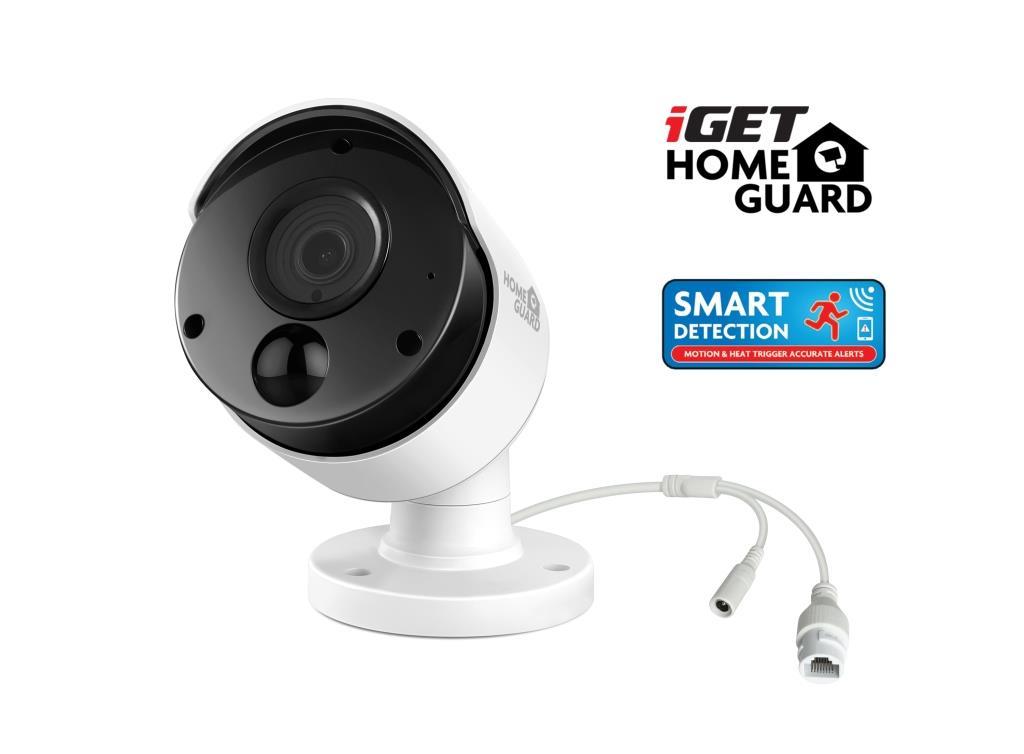 iGET HGNVK930CAM - PoE IP FullHD 1080p kamera, SMART detekce pohybu, IP66, noční IR přísvit 30m - HGNVK930CAM
