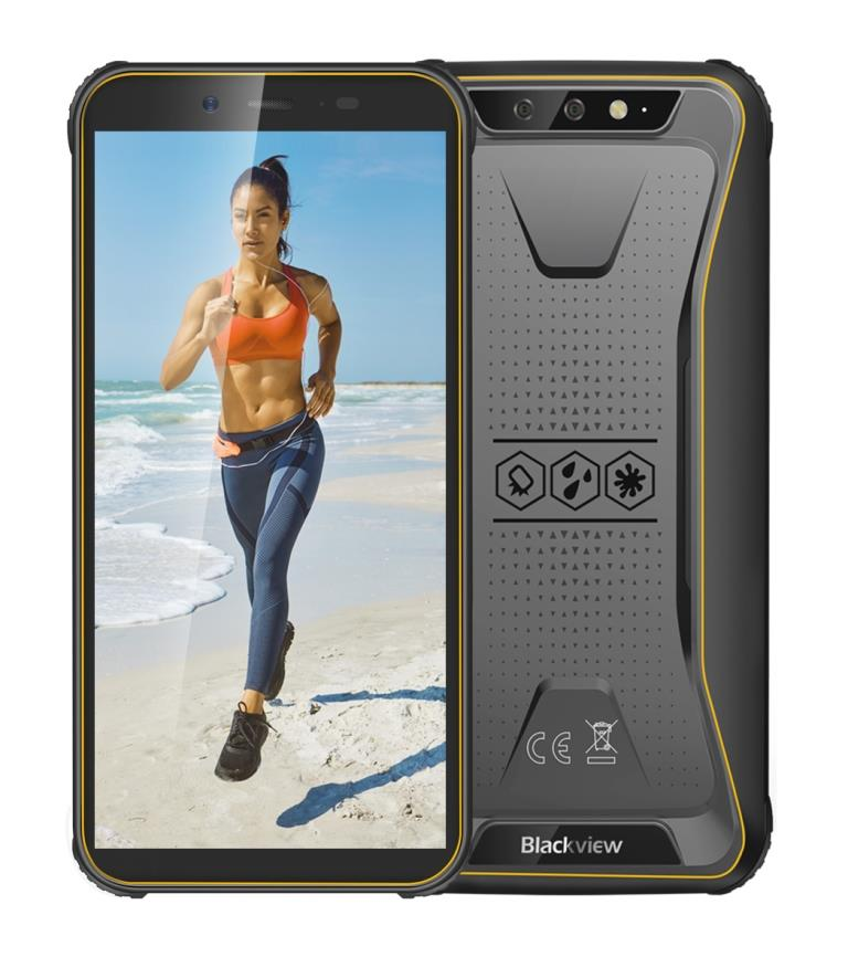 iGET Blackview GBV5500 Plus Yellow odolný telefon, 5,5'' HD+, 3GB+32GB, DualSIM, 4G, 4400mAh, NFC