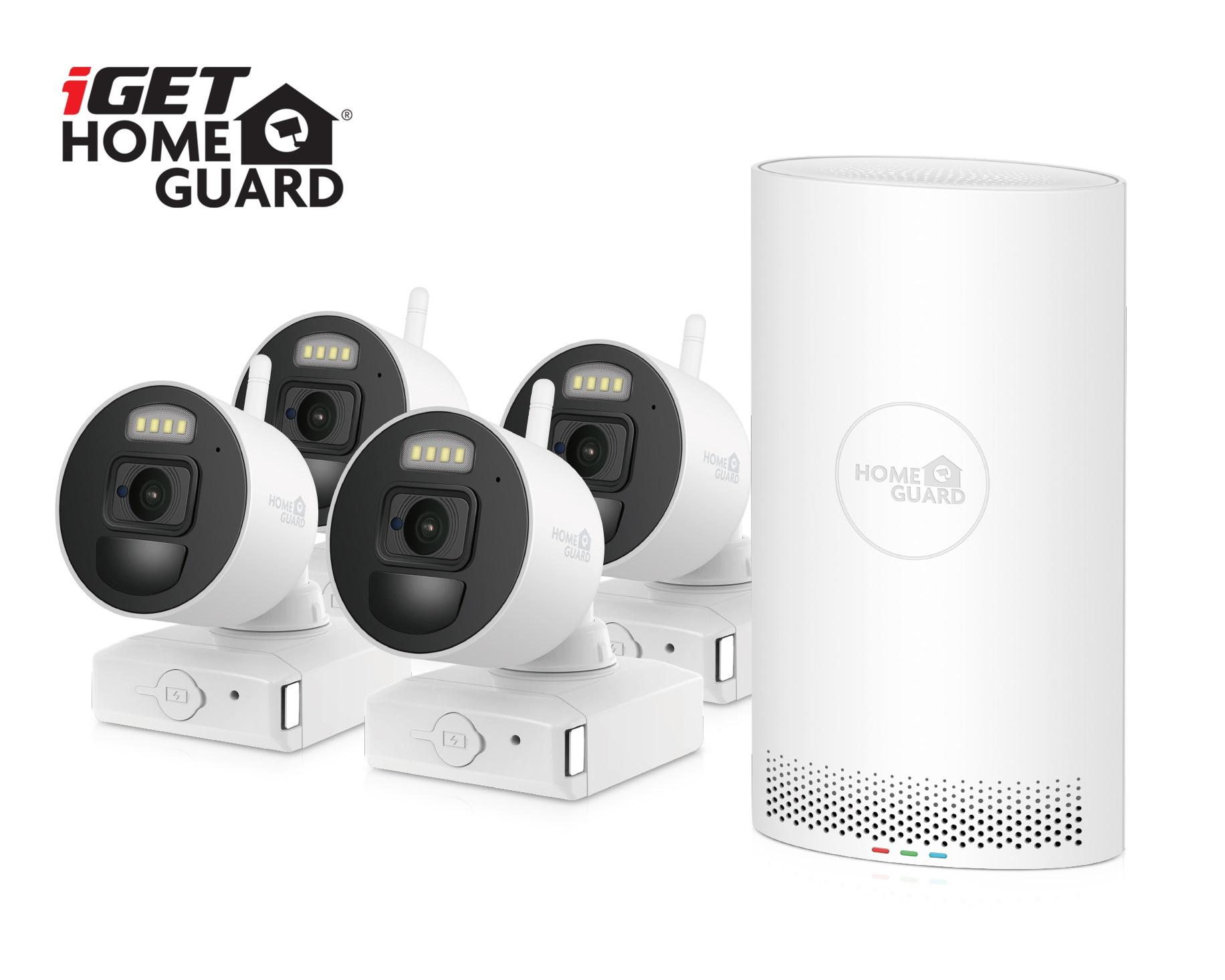 iGET HGNVK88004P - bateriový bezdrátový WiFi set FullHD 1080p, 8CH NVR + 4x FullHD kamera, aplikace - HGNVK88004P