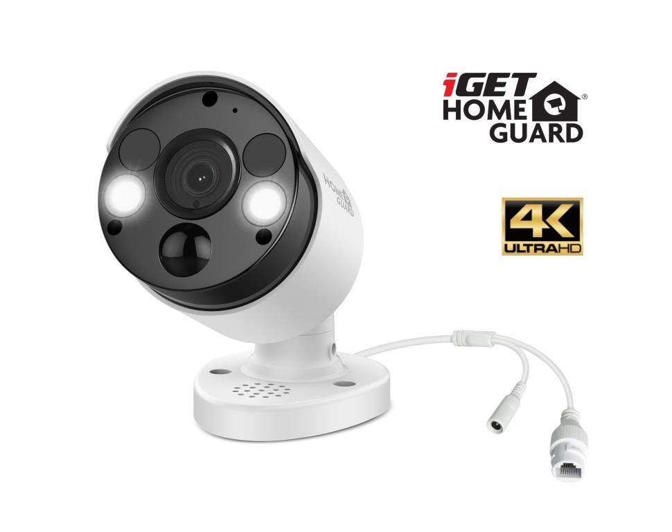 iGET HGNVK936CAM - UltraHD 4K PoE IP kamera, SMART detekce, IP66, zvuk, noční přísvit 40m, ONVIF 2.6 - HGNVK936CAM