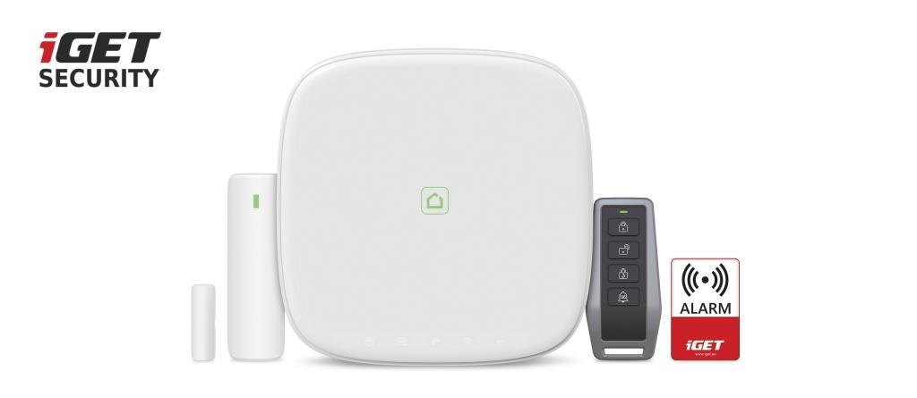 iGET SECURITY M5-4G Lite - Inteligentní 4G/WiFi/LAN alarm, ovládání IP kamer a zásuvek, Android, iOS - M5-4G Lite