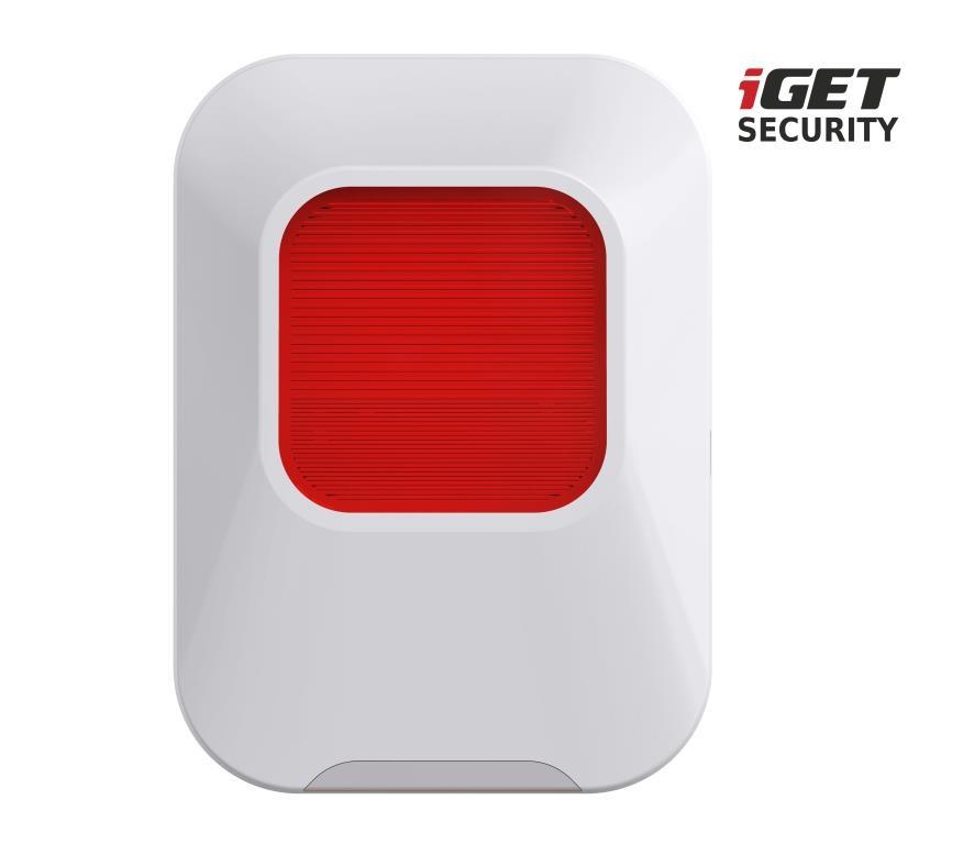 iGET SECURITY EP24 - vnitřní siréna napájená baterií + USB portem, pro alarm M5 - EP24