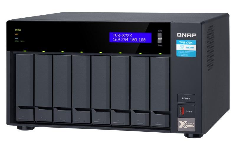 QNAP TVS-872X-i5-8G (6core 3,3GHz, 8GB RAM, 8x SATA, 2x M.2 NVMe slot, 1x HDMI 4K, 2x GbE, 1x 10GbE) - TVS-872X-i5-8G