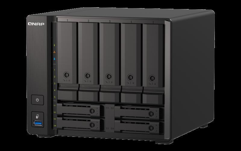 QNAP TS-h973AX-8G (Ryzen 2,2GHz, ZFS, 8GB RAM, 5x 3,5'' + 4x 2,5'' SATA/2x U.2, 2x 2,5GbE, 1x 10GbE) - TS-h973AX-8G