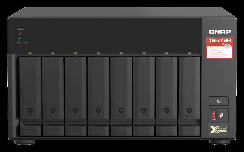 QNAP TS-873A-8G (Ryzen 2,2GHz / 8GB RAM / 8x SATA / 2x M.2 NVMe slot / 2x 2,5GbE / 2x PCIe / 4x USB) - TS-873A-8G