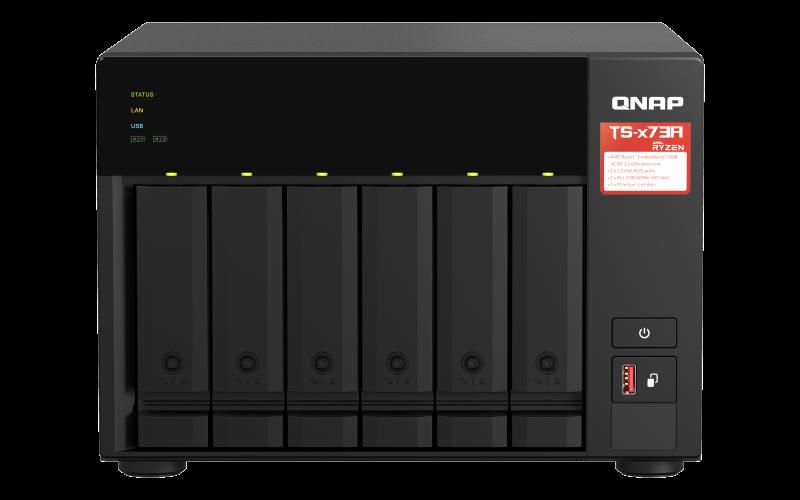 QNAP TS-673A-8G (Ryzen 2,2GHz / 8GB RAM / 6x SATA / 2x M.2 NVMe slot / 2x 2,5GbE / 2x PCIe / 4x USB) - TS-673A-8G