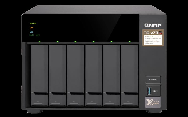 QNAP TS-673-4G (3,4GHz/4GB RAM/6x SATA/2x M.2 SSD slot/2x PCIe/4x GbE/podpora GPGPU) - TS-673-4G