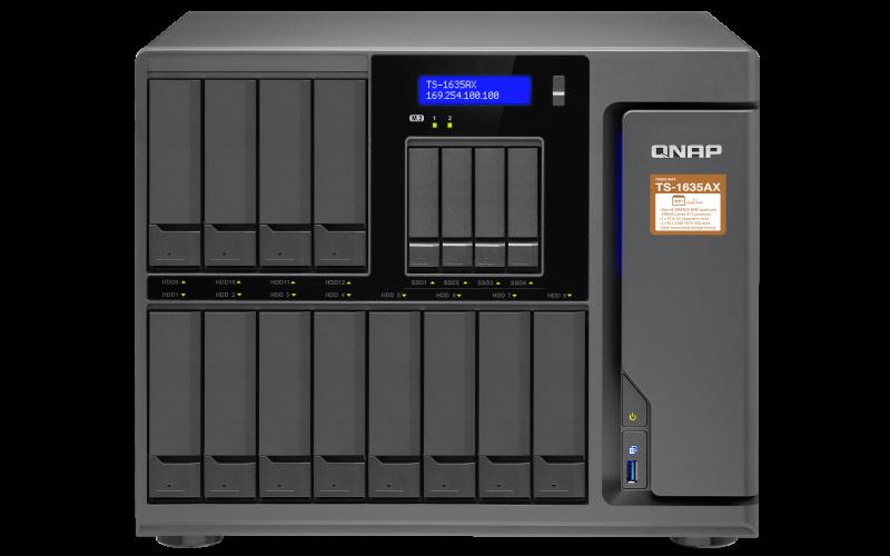 QNAP TS-1635AX-8G (1,6GHz/ 8GB RAM/ 16xSATA/ 2x M.2 SATA slot / 2xGbE/ 2x10Gbe SFP+ / 2x PCIe slot )