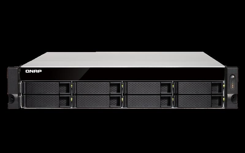 QNAP TS-863XU-4G (2,0GHz / 4GB RAM / 8x SATA / 4x GbE / 1x 10GbE / 2x USB 2.0 / 2x USB 3.0) - TS-863XU-4G
