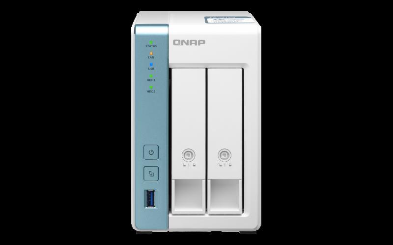 QNAP TS-231P3-2G (1,7GHz / 2GB RAM (až 8GB RAM) / 2x SATA / 1x GbE  /1x 2,5GbE /3x USB 3.2)