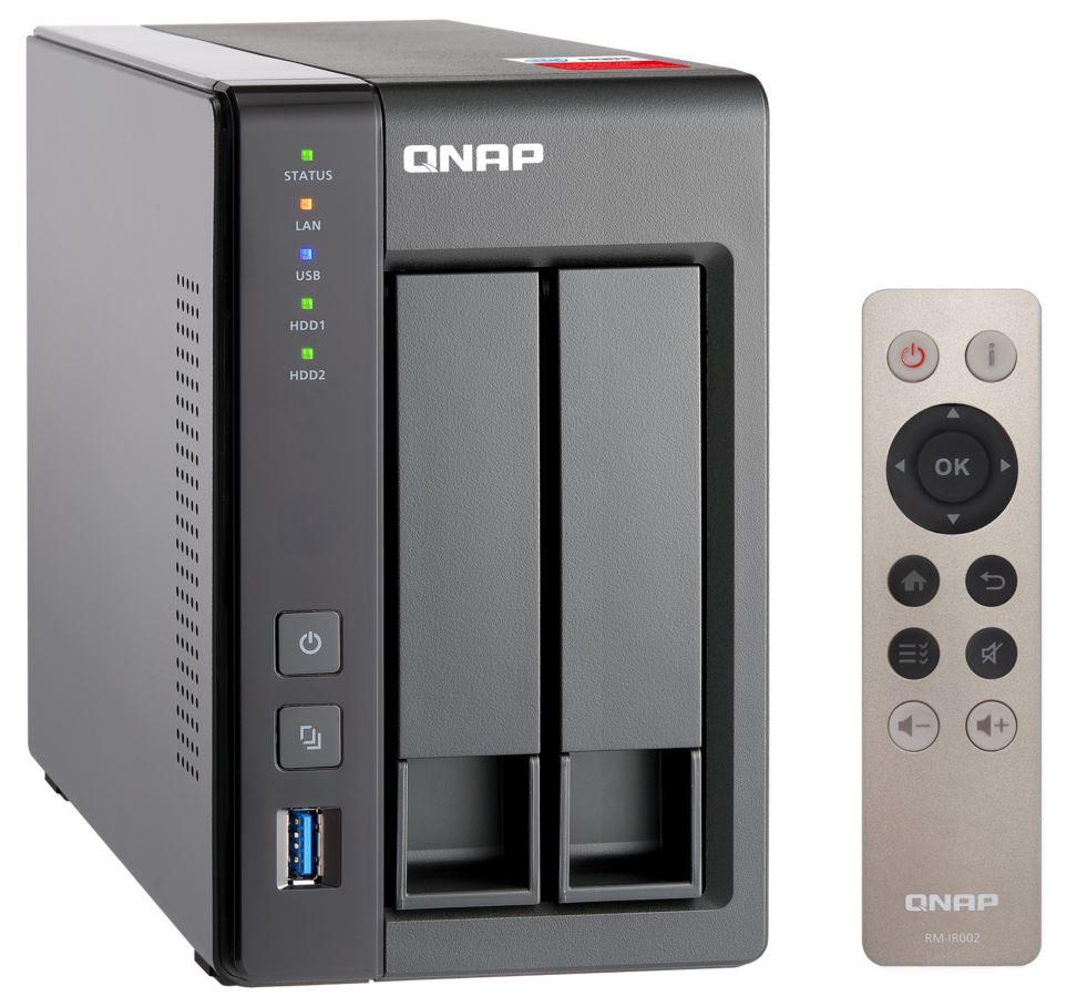 QNAP TS-251+-8G (2,42GHz / 8GB RAM / 2x SATA / 2x GbE / 1x HDMI / 2x USB 2.0 / 2x USB 3.0)