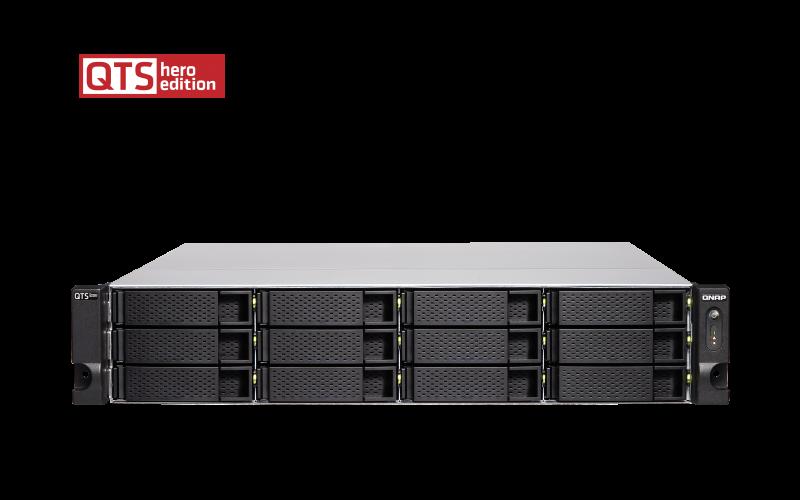 QNAP TS-h1283XU-RP-E2236-32G  (Xeon 3,4GHz, ZFS, 12xSATA, 32GB ECC RAM, 4xGbE, 2x10G SFP+, 2x10GbE) - TS-h1283XU-RP-E2236-32G