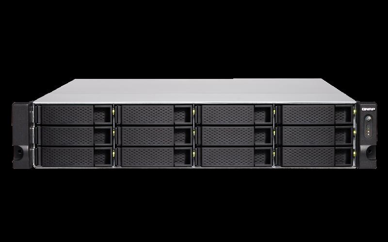QNAP TS-1886XU-RP-D1622-8G (Xeon 3,2GHz, 8GB ECC RAM, 12x 3,5'' + 6x 2,5'', 4x GbE, 2x 10GbE SFP+)