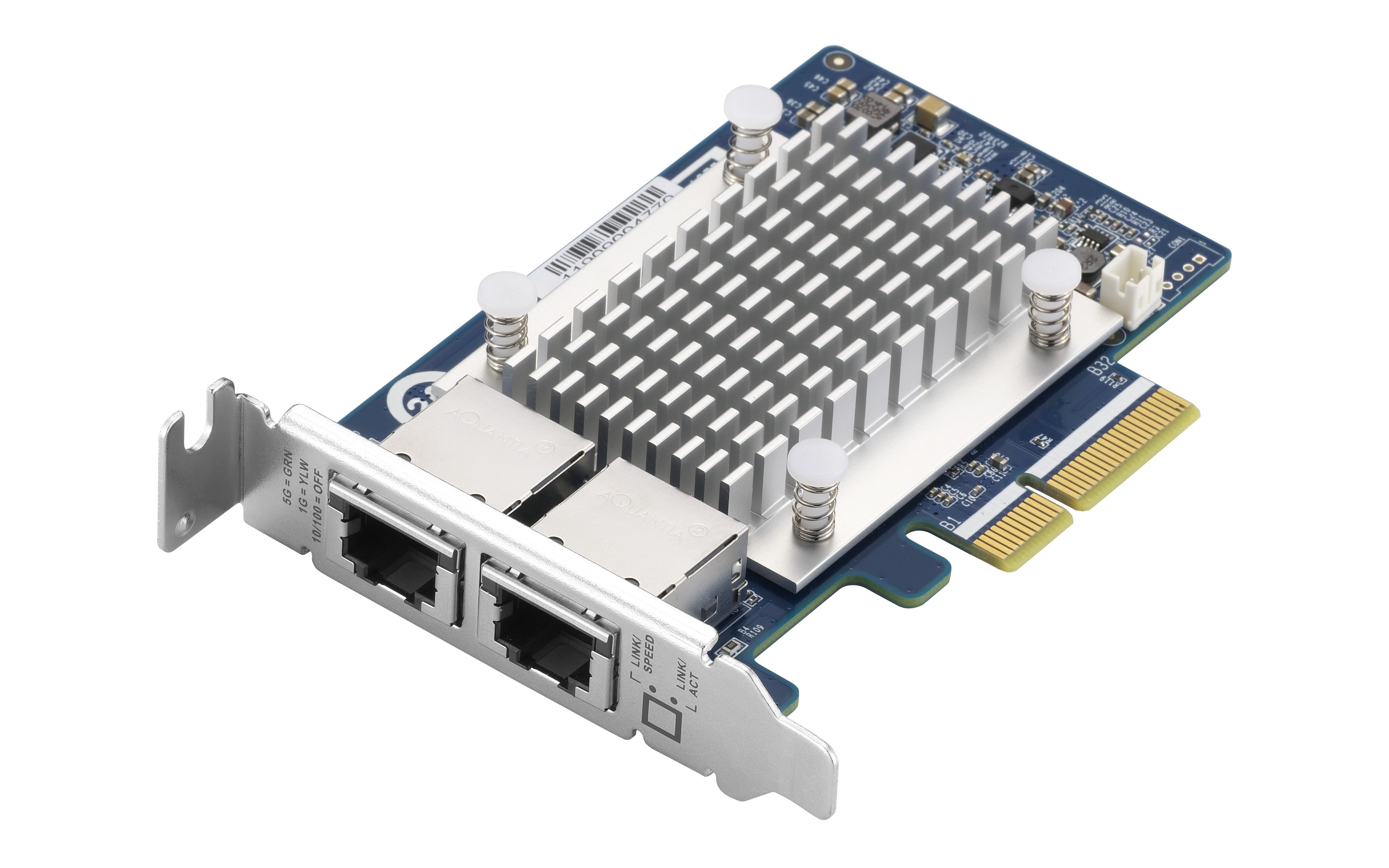 QNAP QXG-5G2T-111C - 5GbE (2 porty) PCIe karta pro PC i NAS - QXG-5G2T-111C