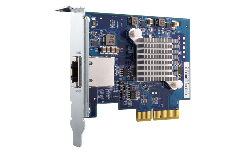 QNAP QXG-10G1T - 10GbE karta pro PC i QNAP NAS - QXG-10G1T