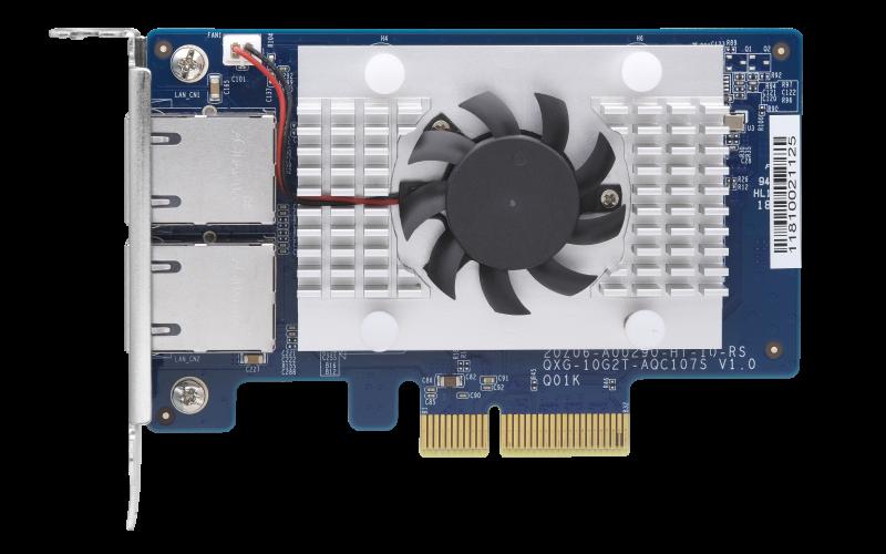QNAP QXG-10G2T-107 - dvouportová rozšiřující 10GbE karta pro PC i QNAP NAS - QXG-10G2T-107