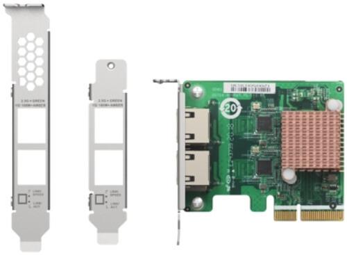 QNAP QXG-2G2T-I225 - 2,5GbE (2 porty) PCIe karta pro PC i NAS - QXG-2G2T-I225