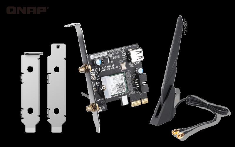 QNAP QXP-W6-AX200 - PCIe bezdrátová síťová karta Wi-Fi 6 pro NAS nebo PC - QXP-W6-AX200