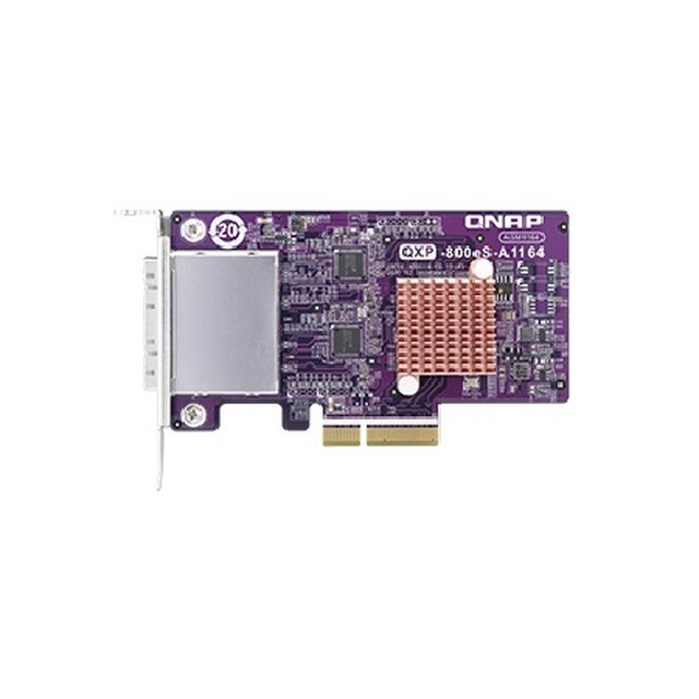 2-port SFF-8088 SATA host bus adapter, 8 x SATA 6Gb/s, PCIe 3.0 x4, for TL SATA JBOD