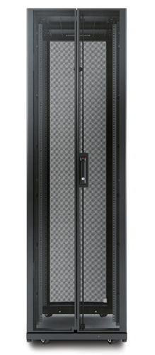 NetShelter AV 42U 600mm Wide x 825 Deep Enclosure with Sides and 10-32 Threaded Rails Black